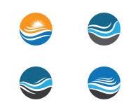 Illustration f?r logo f?r vattenv?g vektor illustrationer