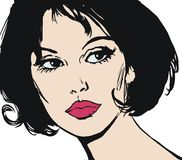 Illustration of the face of a beautiful woman Royalty Free Stock Photos