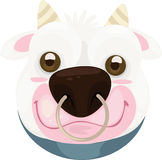 Illustration face cow. 