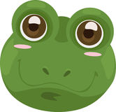Illustration face frog. 