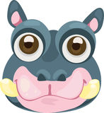 Illustration face hippo. 