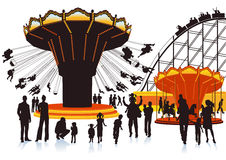 Illustration of a fairground Royalty Free Stock Images