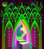 Illustration of fairyland fantasy kingdom. Stock Images