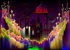 Illustration of fairyland fantasy kingdom. Royalty Free Stock Photos