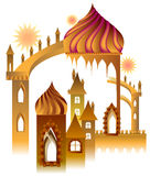Illustration of a fairyland fantasy palace. Stock Photo