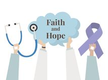 Illustration of faith and hope concept Royalty Free Stock Photos