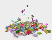 Illustration with falling books Royalty Free Stock Images