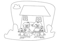 Illustration: family Royalty Free Stock Images