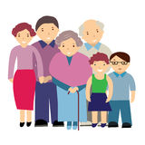 Illustration of a family Royalty Free Stock Images
