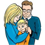 Illustration of family of three Stock Photo
