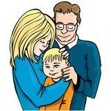 Illustration of family of three Stock Photo