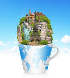 Illustration of famous monument of the world Stock Images