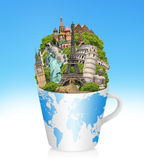 Illustration of famous monument of the world Royalty Free Stock Image