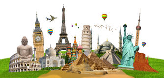 Illustration of famous monument of the world Stock Photo
