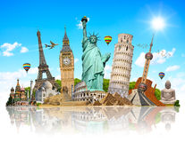 Illustration of famous monument of the world Royalty Free Stock Photos