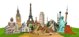 Illustration of famous monument of the world Stock Photography
