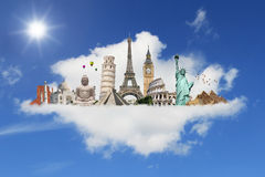 Illustration of famous monument of the world Stock Image