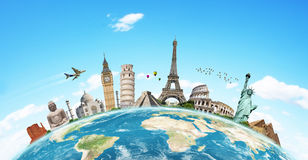 Illustration of famous monument of the world Stock Photos