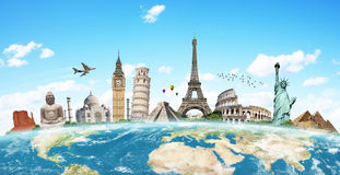 Illustration of famous monument of the world Royalty Free Stock Photo