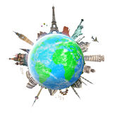 Illustration of famous monument of the world Royalty Free Stock Photography