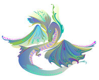 Illustration of fantastic fairyland dragon. Stock Photography