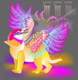 Illustration of fantastic fairyland griffin. Royalty Free Stock Photography