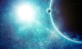 Illustration of fantastic space Stock Photography