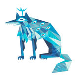 Illustration of fantastic wolf. Royalty Free Stock Photo