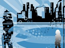 Illustration-Fantasy life. Modern urban style illustration Stock Photos