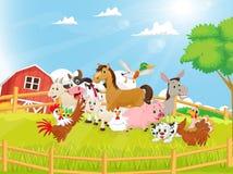 Illustration of Farm Animals cartoon Stock Images