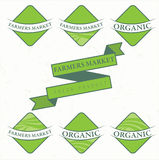 Illustration farm labels.Vector Royalty Free Stock Photography