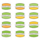 Illustration farm labels.Vector Stock Photography