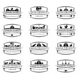 Illustration farm labels.Vector Stock Images