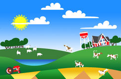 Illustration of farmland Royalty Free Stock Image