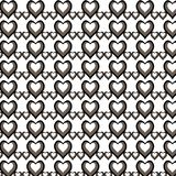 Illustration fashion pattern with hearts on Happy Valentines Day. stock illustration