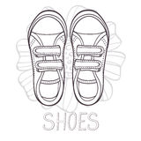 An illustration of fashionable girl trainers Royalty Free Stock Photography