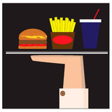 Illustration with fast food Royalty Free Stock Photo