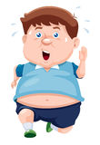 Illustration of fat man Jogging Stock Image