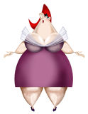 Illustration Of A Fat Woman Royalty Free Stock Photo