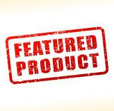 Featured product text buffered Stock Image