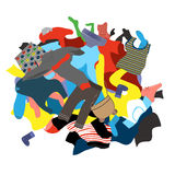Illustration Featuring a Messy Pile of Dirty Laundry Royalty Free Stock Photography