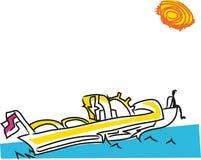 Motor boat vector illustration. royalty free stock photography