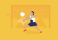 Illustration Of Female Volleyball Player Competing In Event Stock Image