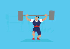 Illustration Of Female Weightlifter Competing In Event vector illustration
