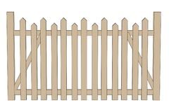 Illustration of fence (railings) Royalty Free Stock Photos