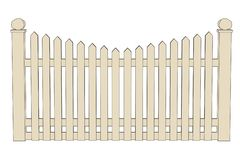 Illustration of fence (railings) Stock Photography