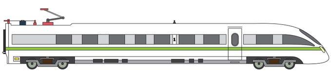 Illustration ferroviaire exprès de vecteur linéaire de train à grande vitesse Photographie stock libre de droits