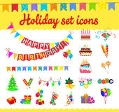 Illustration festive background with carnival and Stock Photography
