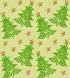 Festive background with Christmas tree of Celtic we. Illustration festive background with Christmas tree of Celtic weave pattern Stock Image