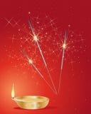 Diwali sparklers Stock Images